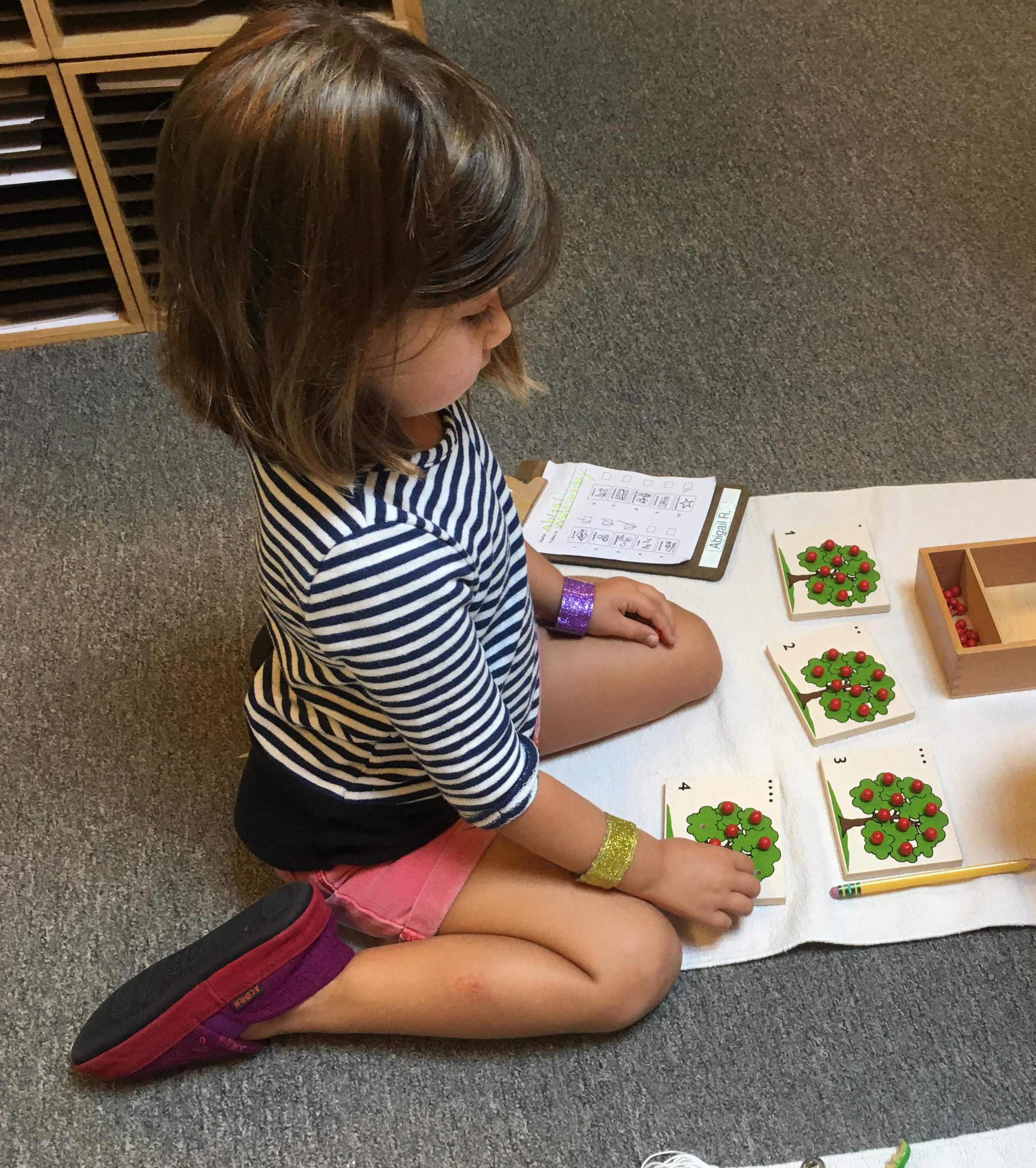 Specialized MontessoriLearning Tools - Maria Montessori developed many of the materials our children work with to encourage and facilitate focus and confidence.