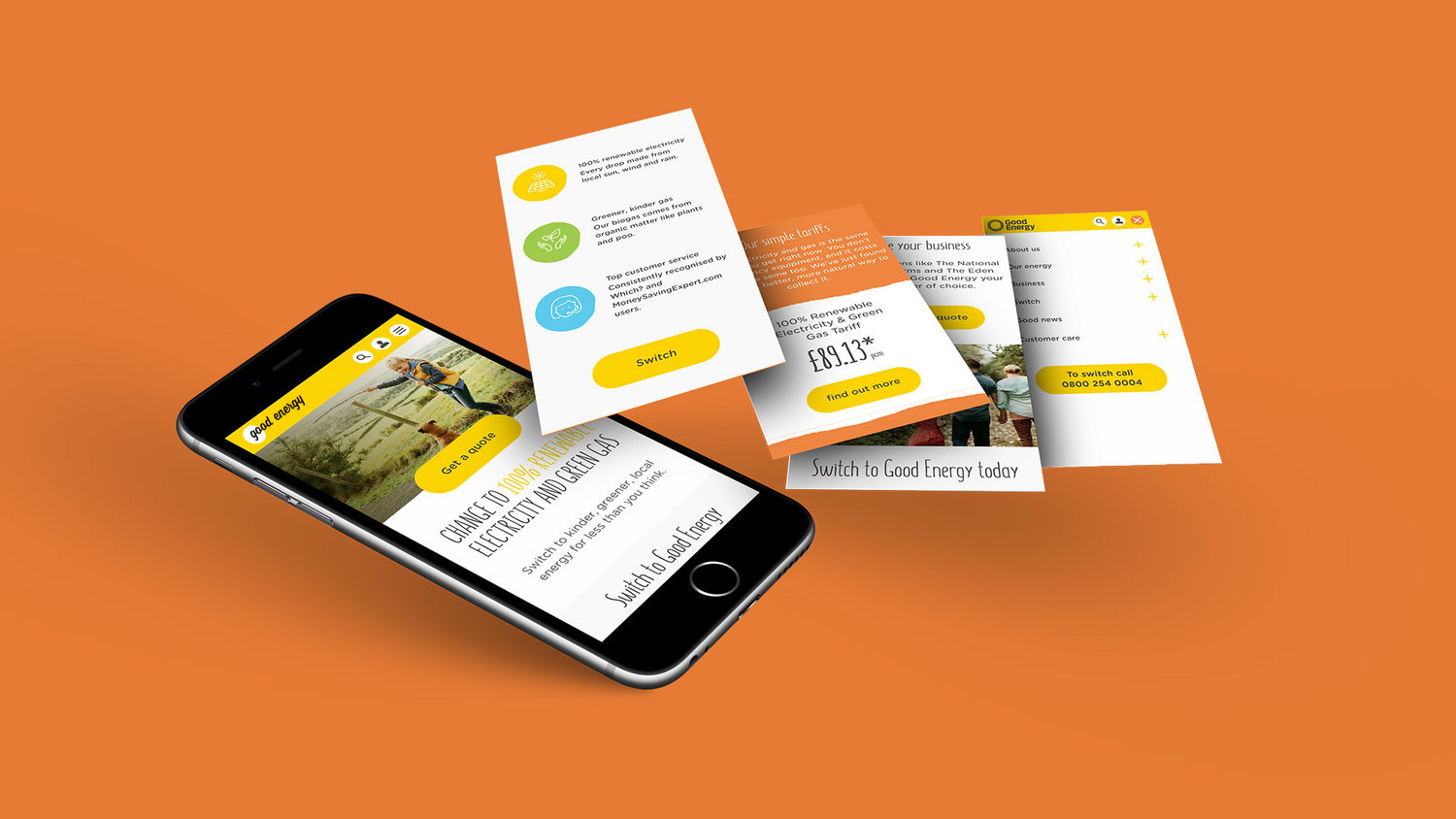 Dare West Good Energy Umbraco responsive mobile layout