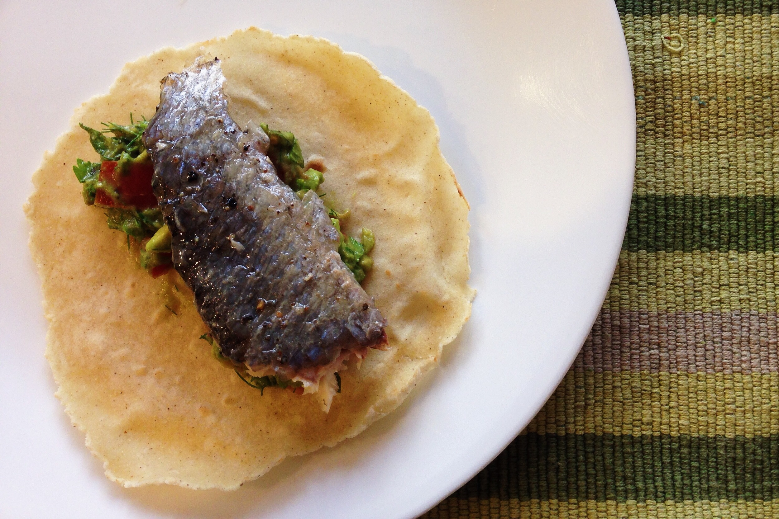 homemade fish tacos - approaching paleo