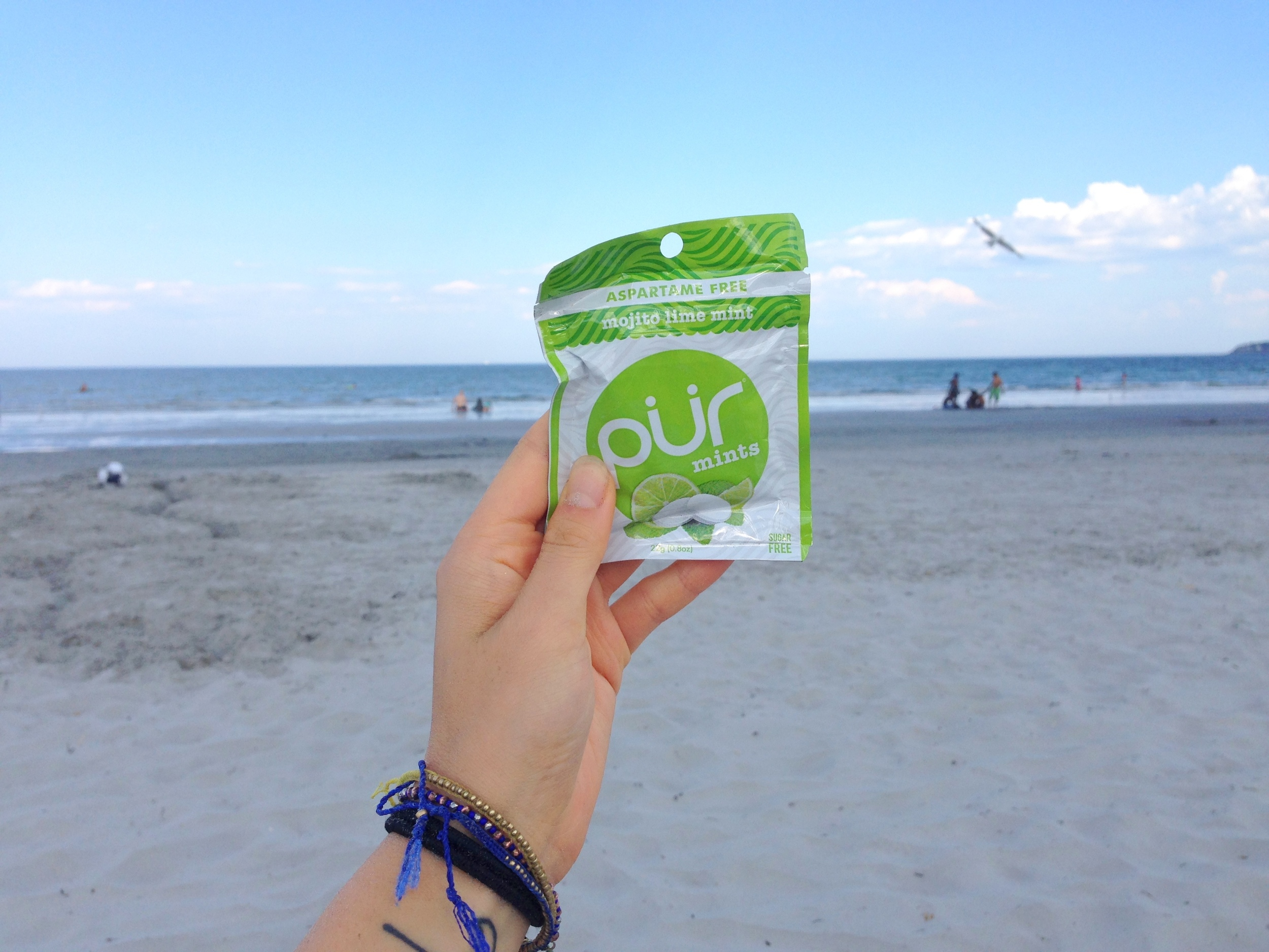 mojito lime mint at the beach