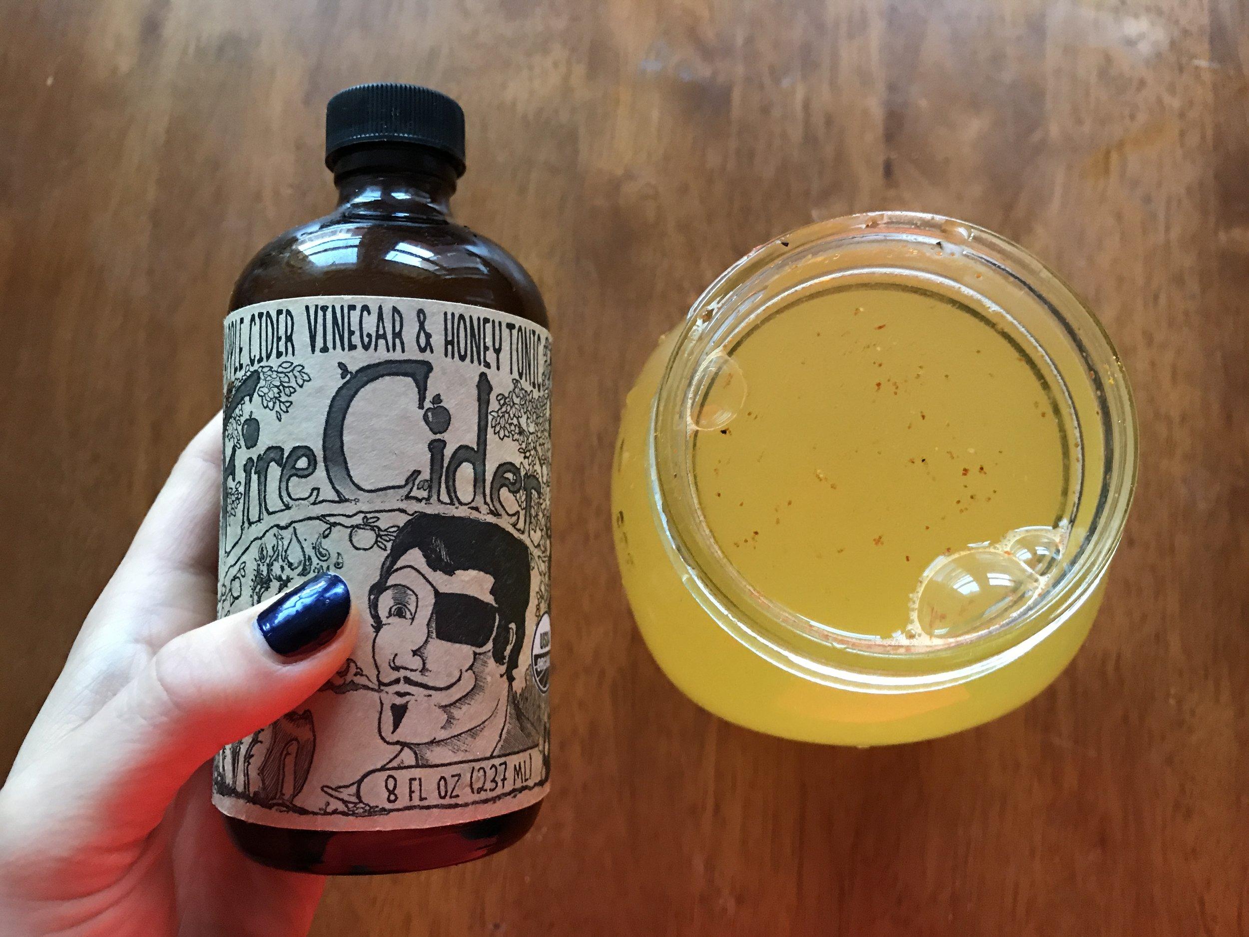 fire tonic + lemon tonic