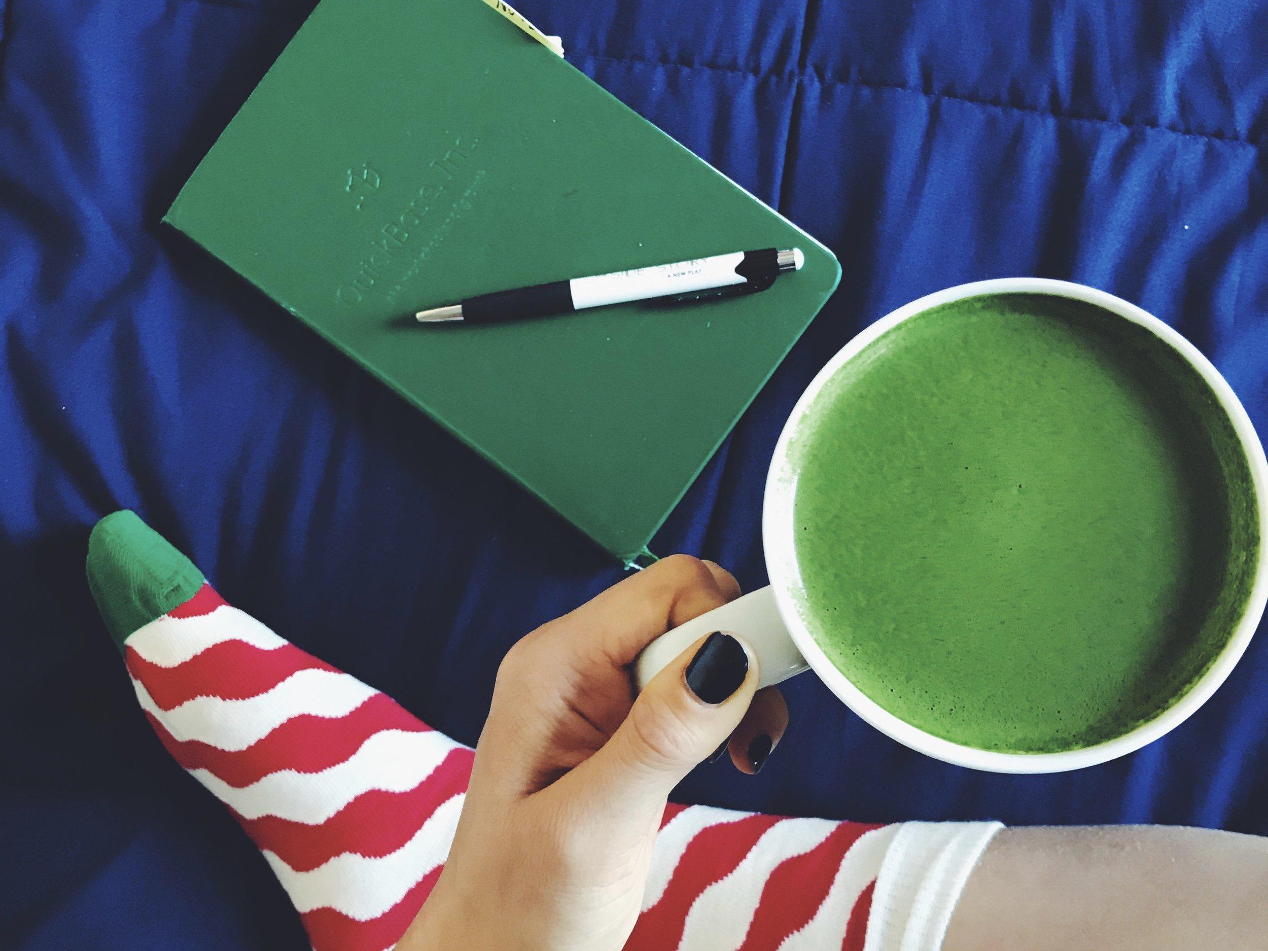 matcha + journaling