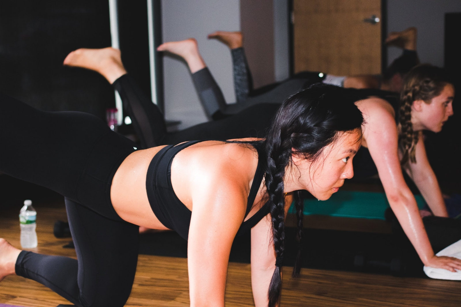 Photo by Bizzy Coffee Team //Leggings:  Lululemon WunderUnder Hi-Rise 7/8 Length  // Sports Bra:  Lululemon    Never be afraid to workout in just your sports bra. Even if no one else is. Even if you don't have a 6-pack. Even if you think other people will stare.