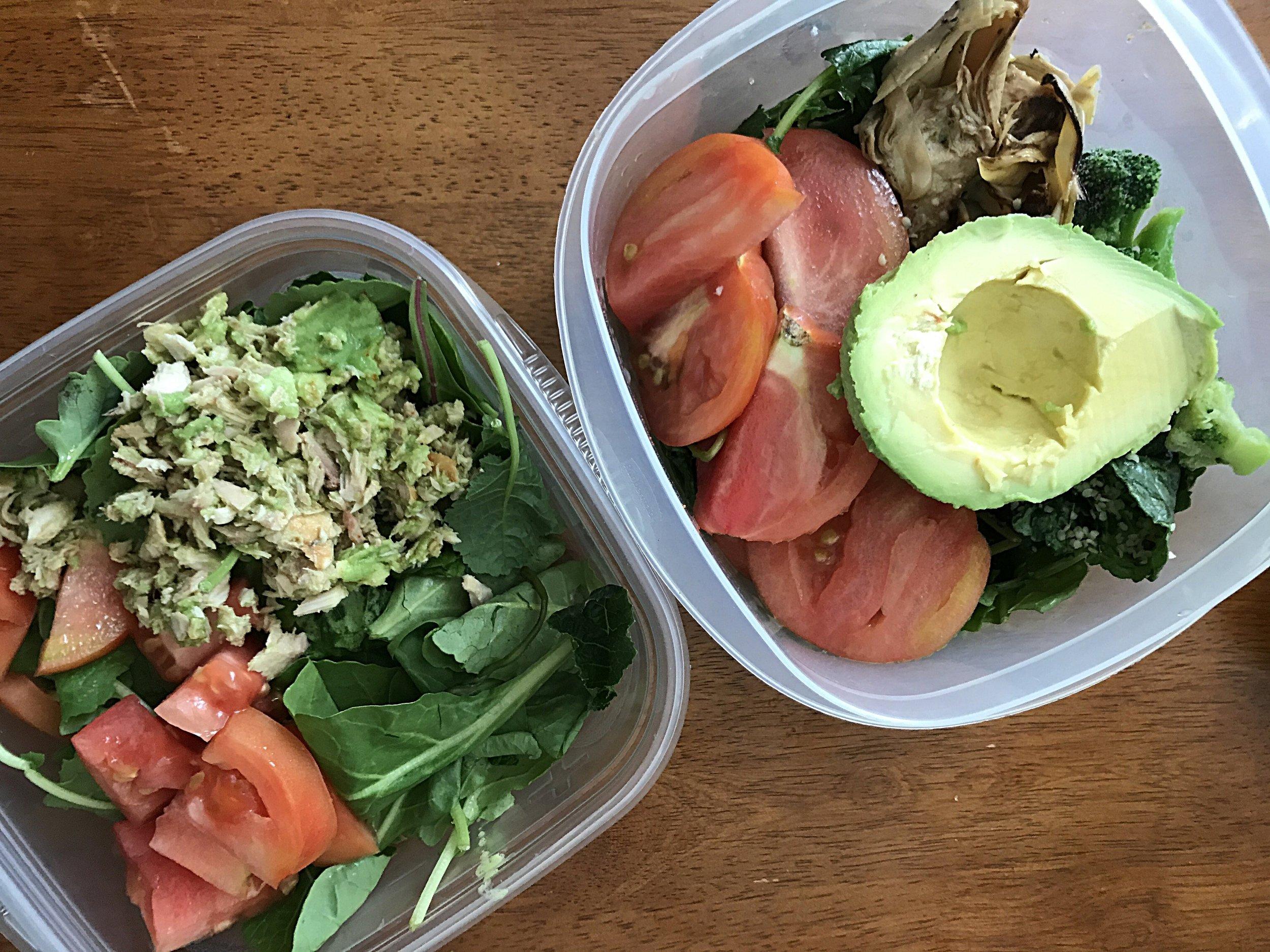 Avocado Tuna Salad on Greens