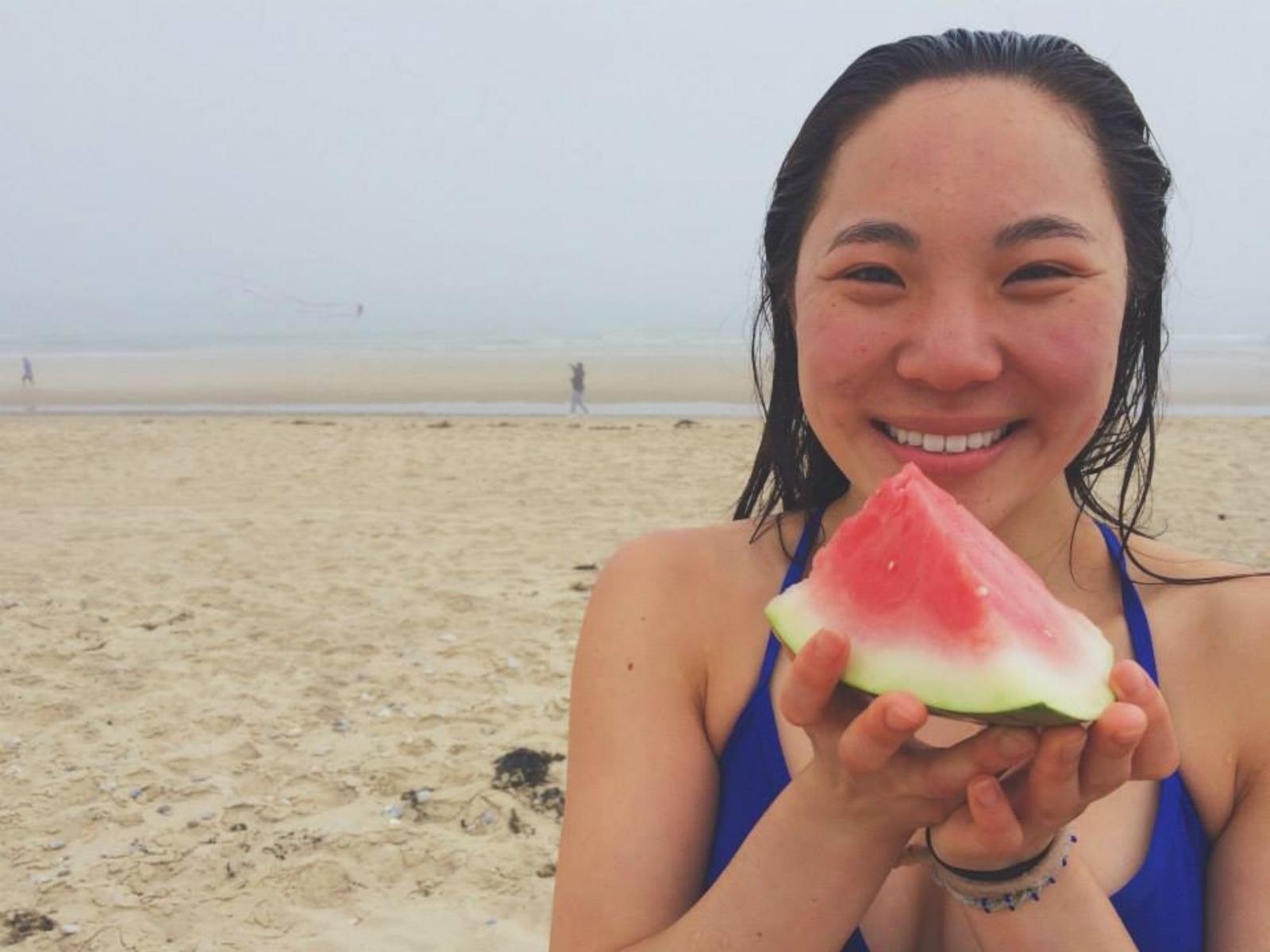 watermelon + beach