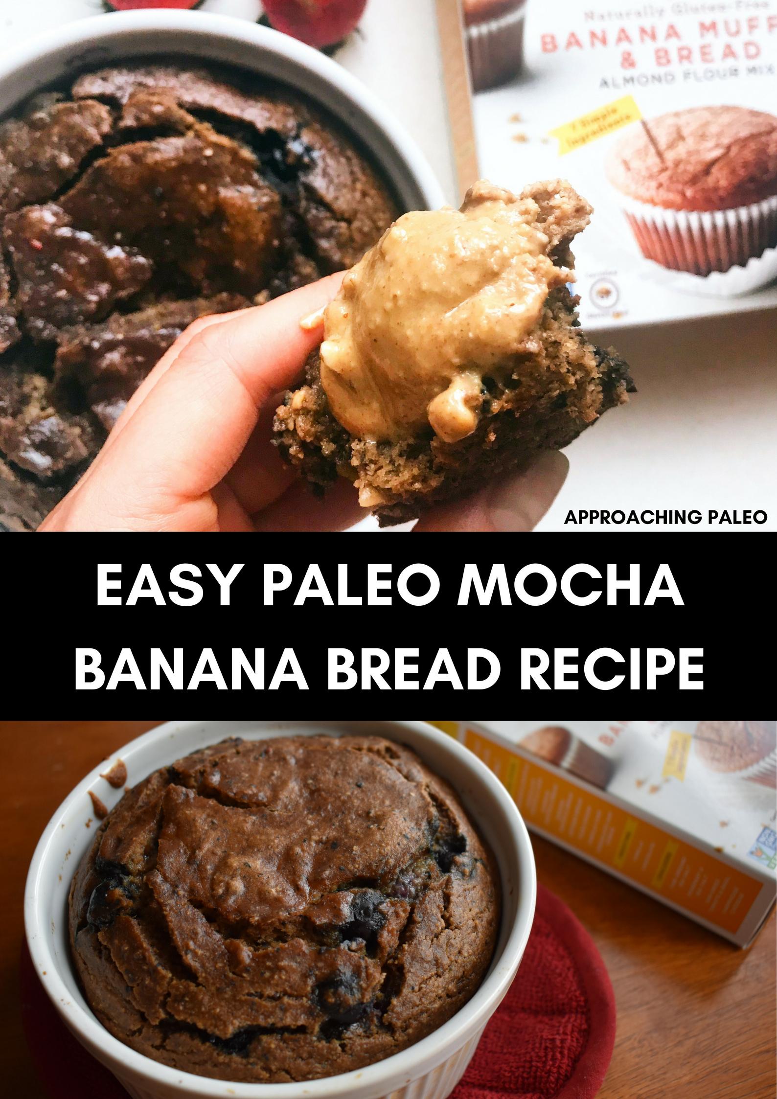 Easy Paleo Mocha Banana Bread Recipe