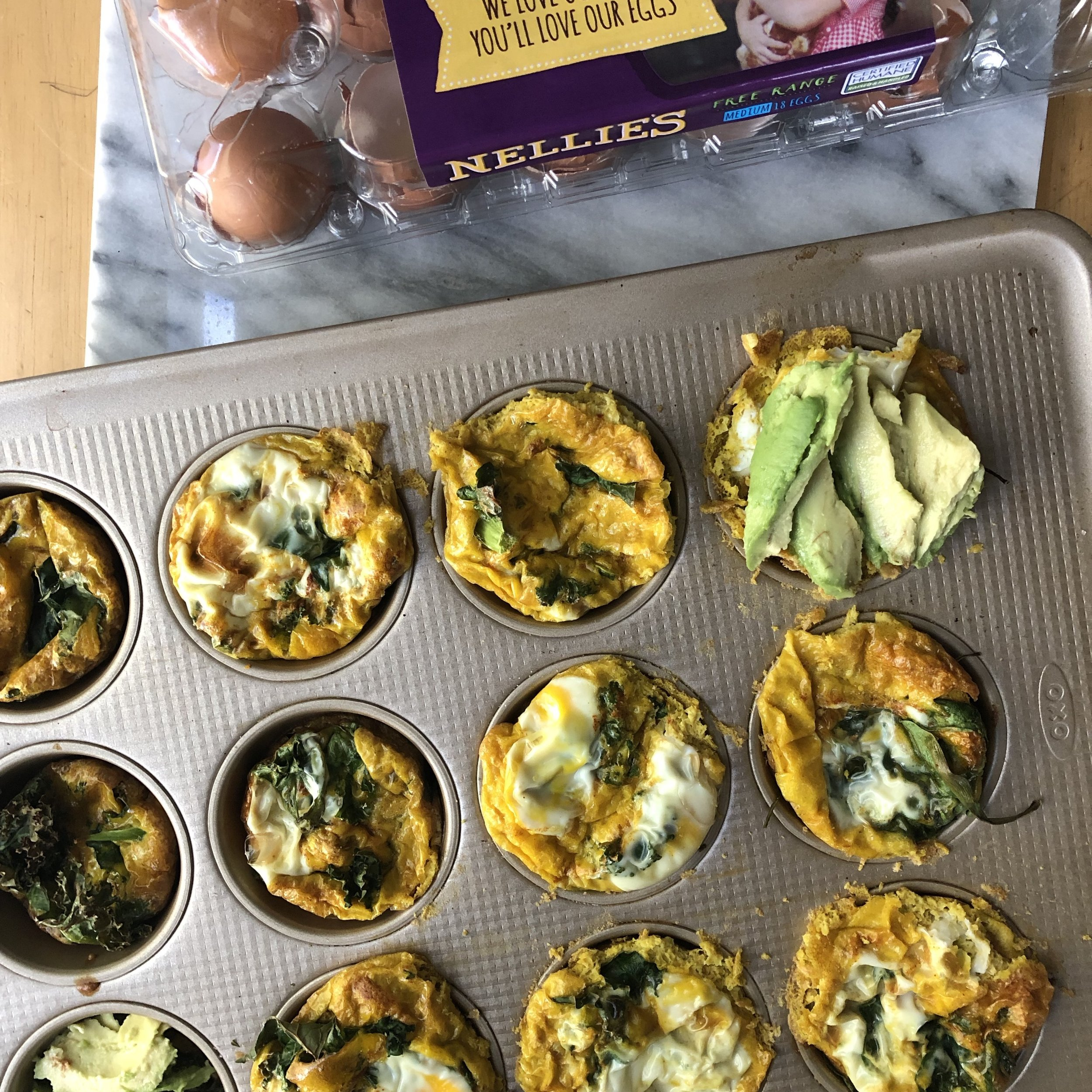 15 Minute Turmeric Pesto Egg Muffins