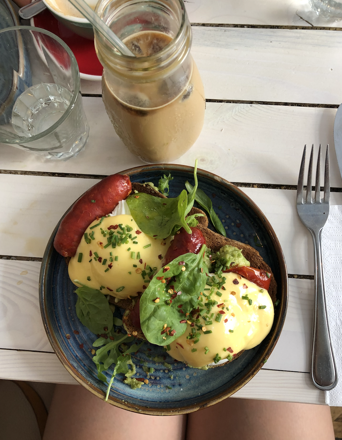 "Gluten-free ""Eggs with a Kick"" at STHLM Brunch Club in Stockholm, Sweden"