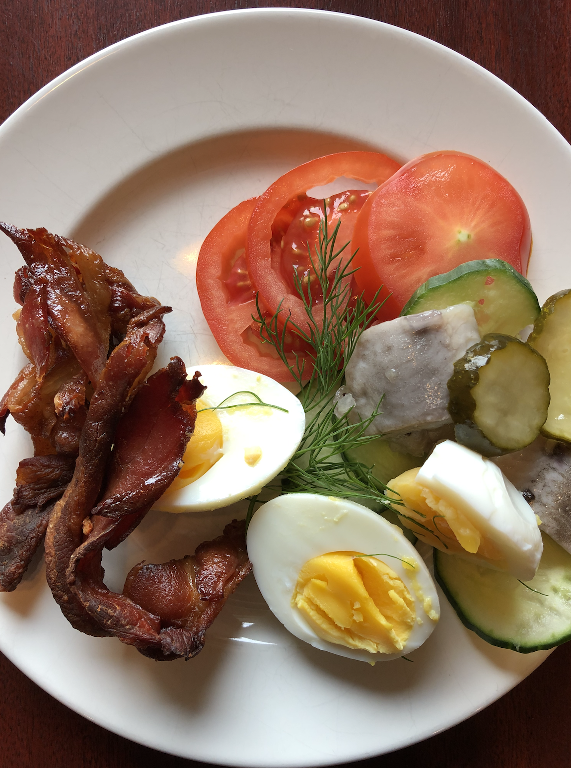 Swedish breakfast at First Hotel Carlshamn in Karlshamn, Sweden
