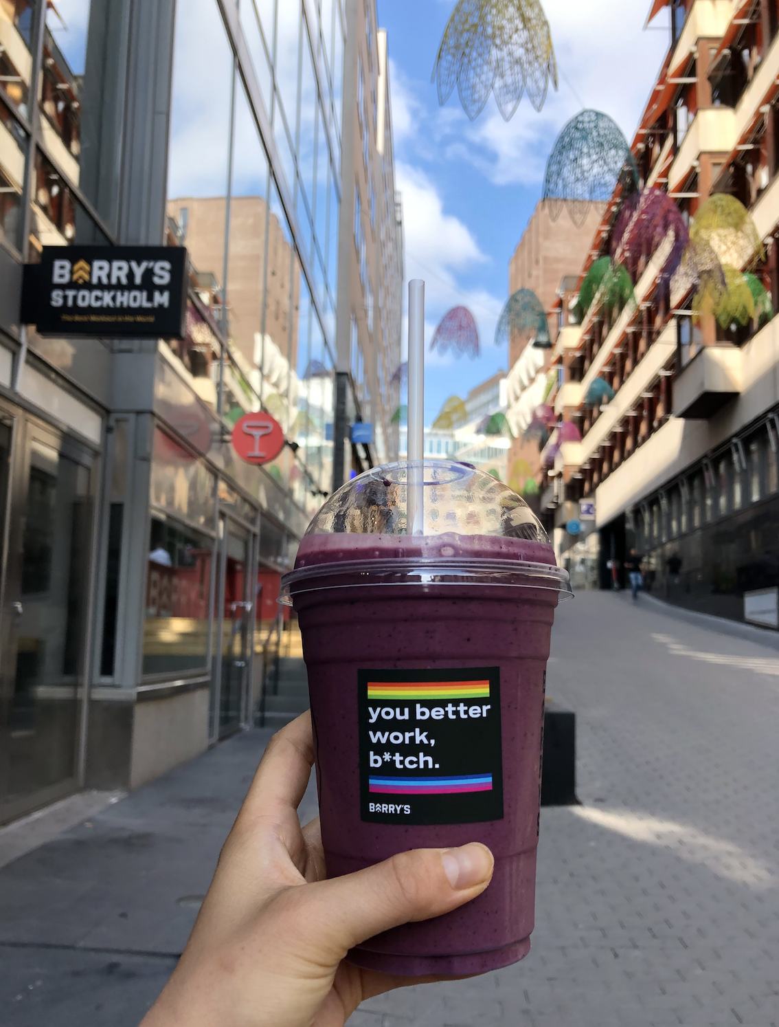 Made in Sweden smoothie from Barry's Bootcamp in Stockholm, Sweden