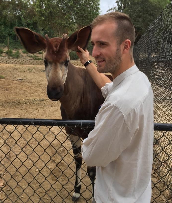 Thomas and an Okapi