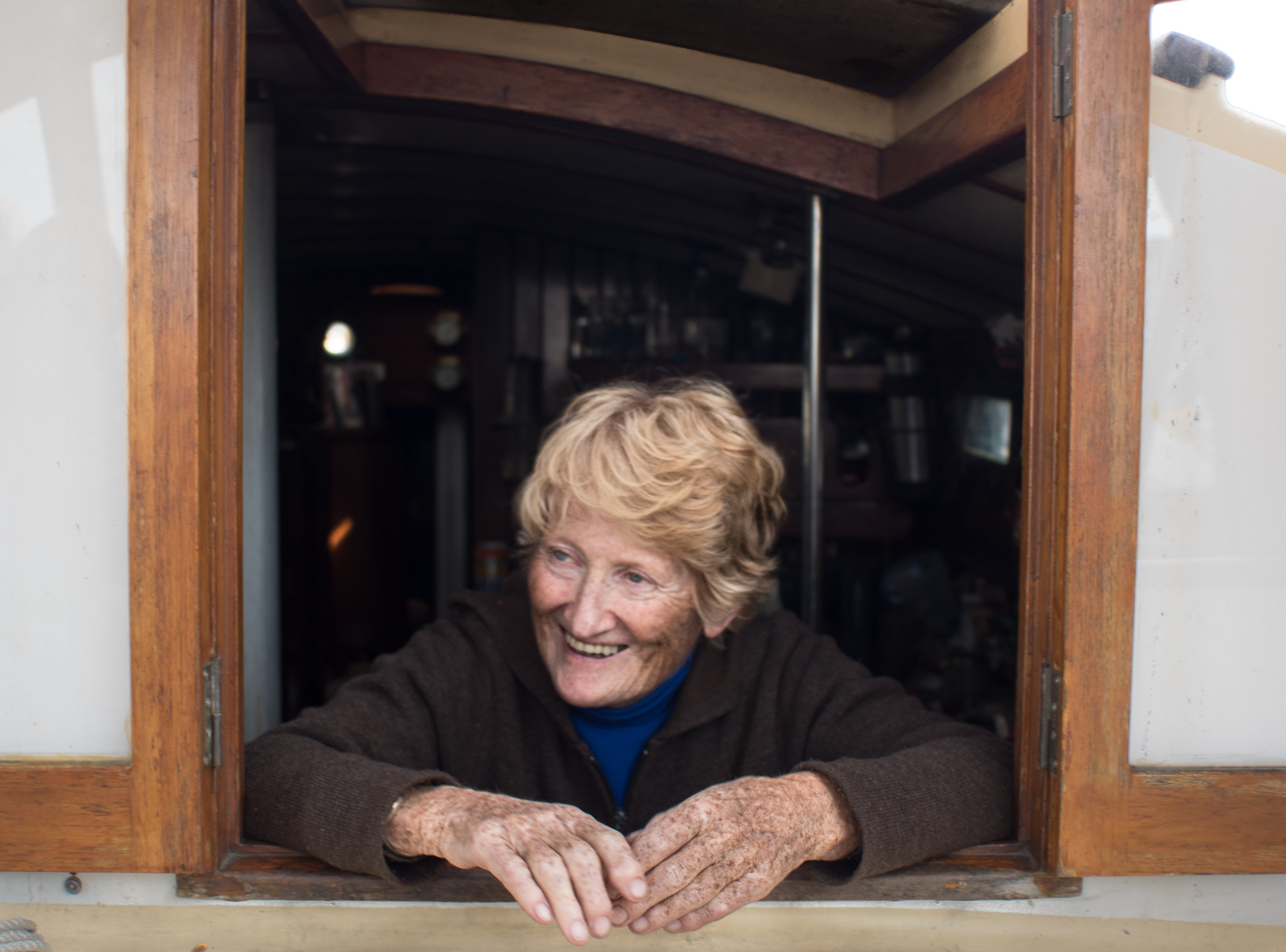 Jane has lived in her 37 foot boat for the better part of the last 30 years.