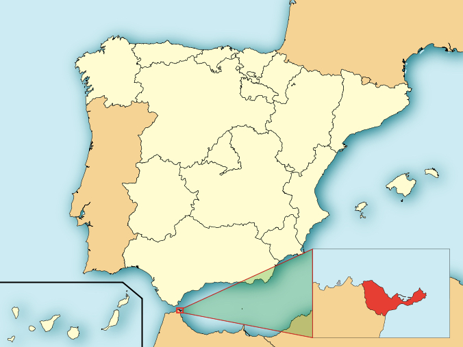 Map of Ceuta