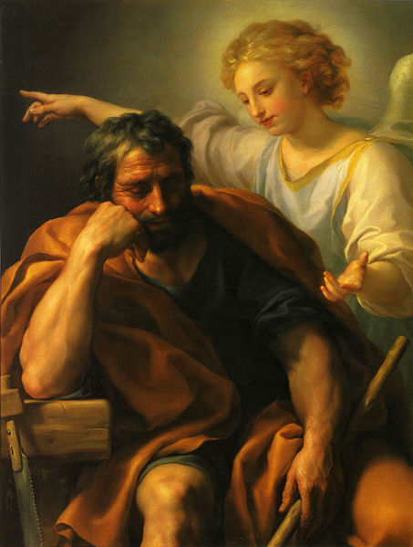 """The Dream of St. Joseph"" by Anton Raphael Mengs"