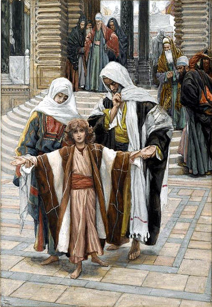 """Jesus Found in the Temple"" by James Tissot (PD-1923)"