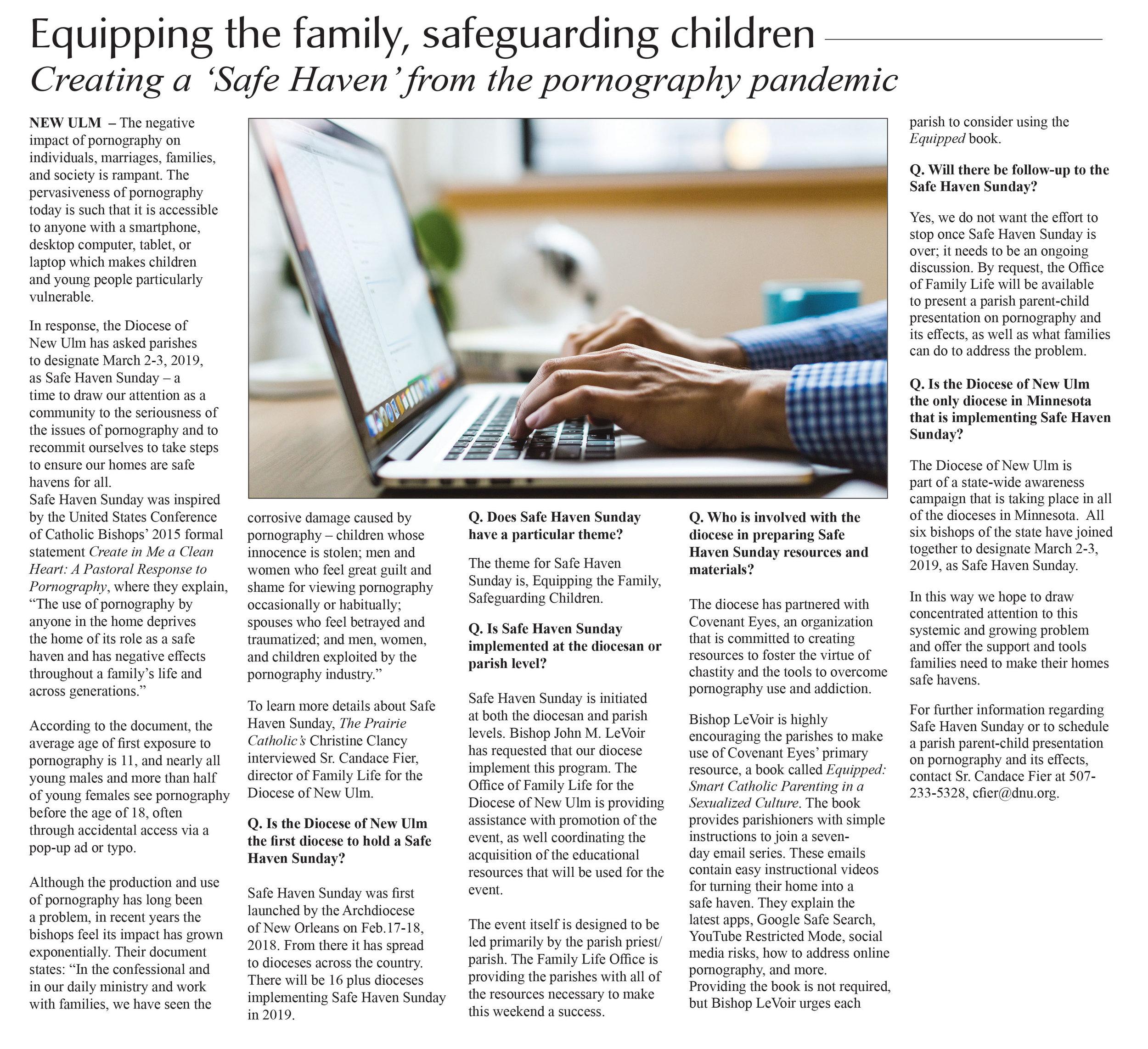 PC  Safe Haven Sunday article 2019.jpg