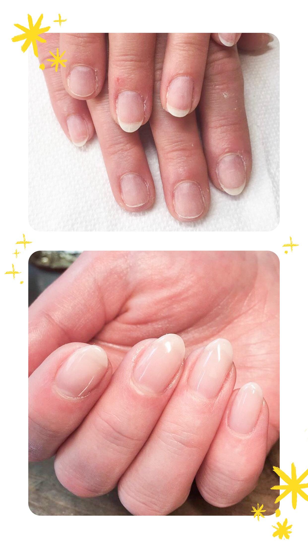 Multiflex hard gel manicure