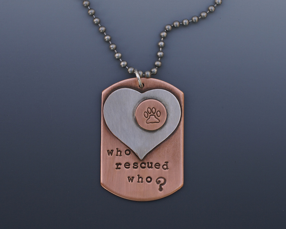 charleston jeweler copper dog tag necklace