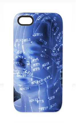acupuncture phone case blue