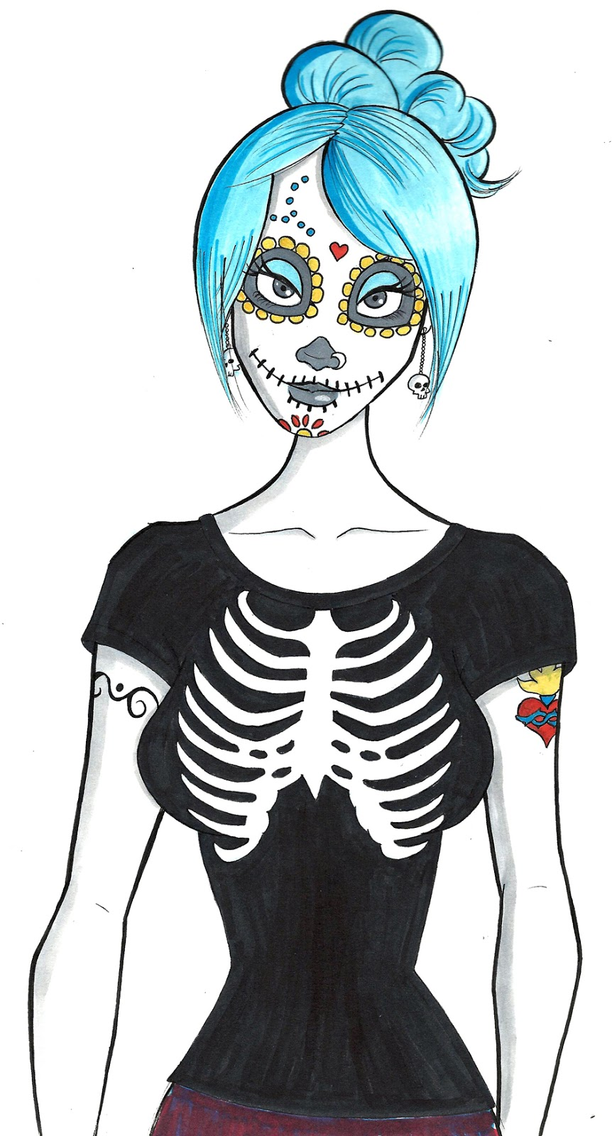 lady-catrina-sketch-iamo