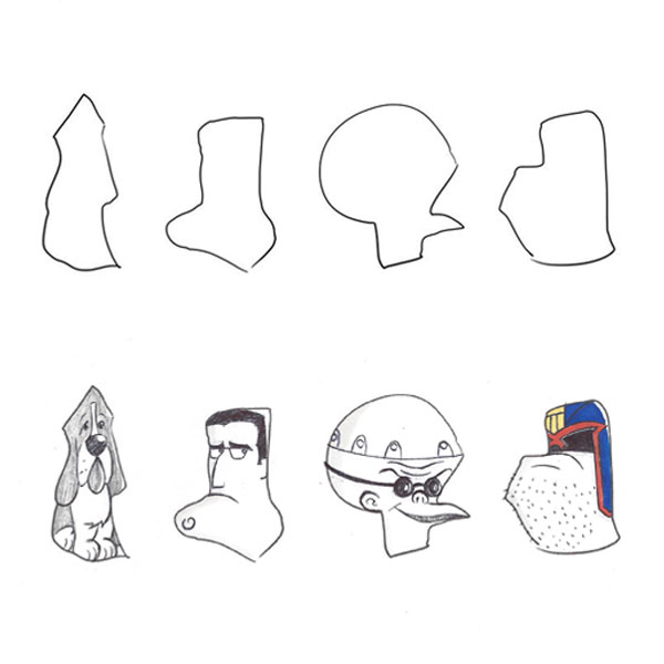 random-shape-doodle-basset-hound-nightmare-before-christmas-judge-dredd-iamo