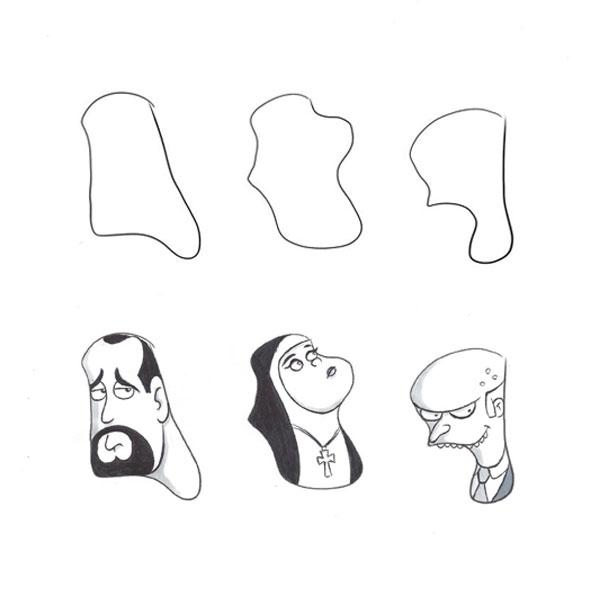 random-shape-doodle-mister-burns-simpsons-catholic-nun-iamo