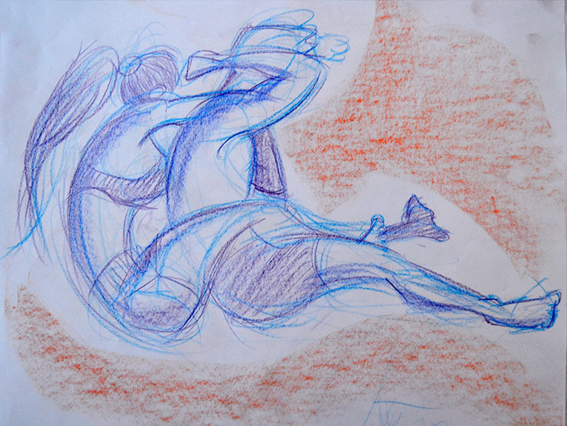 Mixed Martial Arts Gesture Drawing