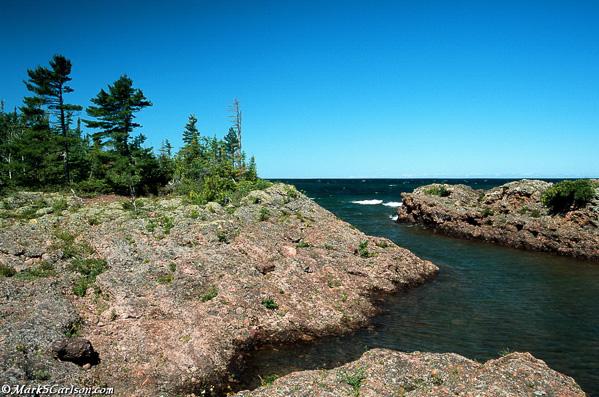 Lake Superior coastline from Porters Island, Copper Harbor, MI; ©markscarlson.com