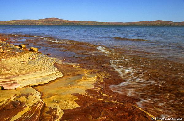 Sandstone shoreline of Lake Superior; ©markscarlson.com