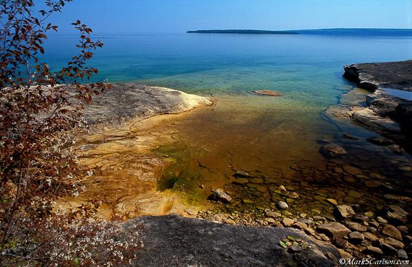 Shadbush, shallow cove, Lake Superior; ©markscarlson.com