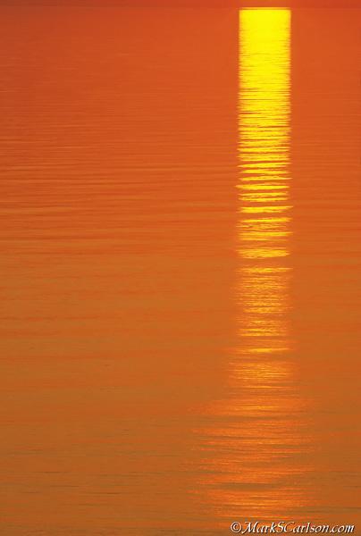 Sunset reflection in Lake Superior; ©markscarlson.com