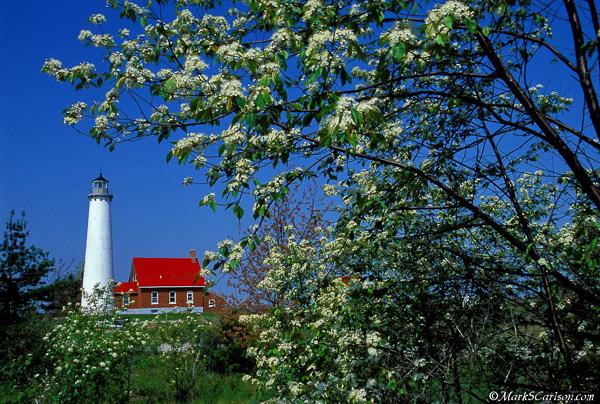 Tawas Lighthouse, spring; ©markscarlson.com