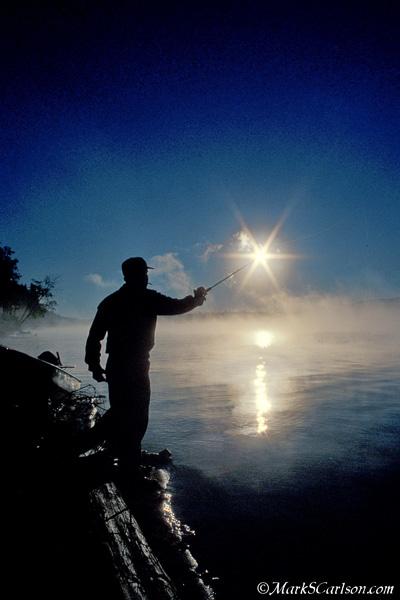 Casting into sunrise; ©markscarlson.com