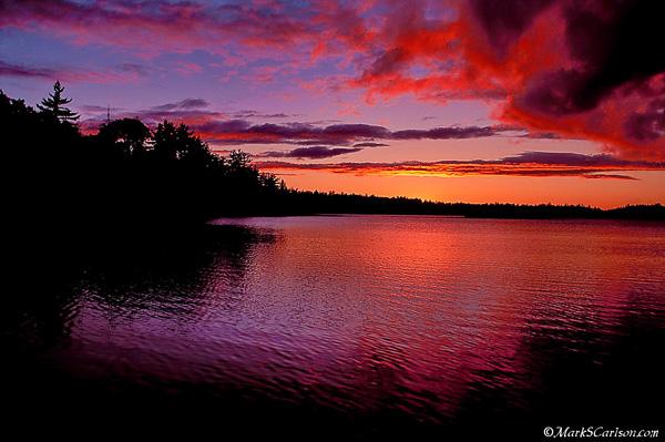 Lake Stella, twilight storm clouds; ©markscarlson.com