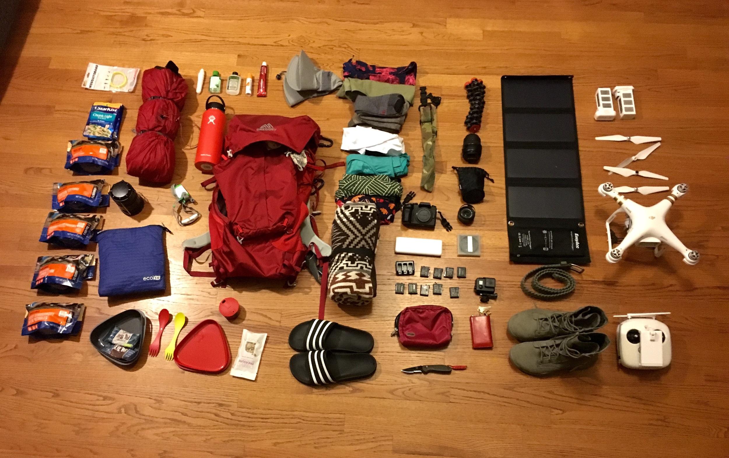 Backpacking Havasupai Arizona. Here is all the gear I'm bringing along.