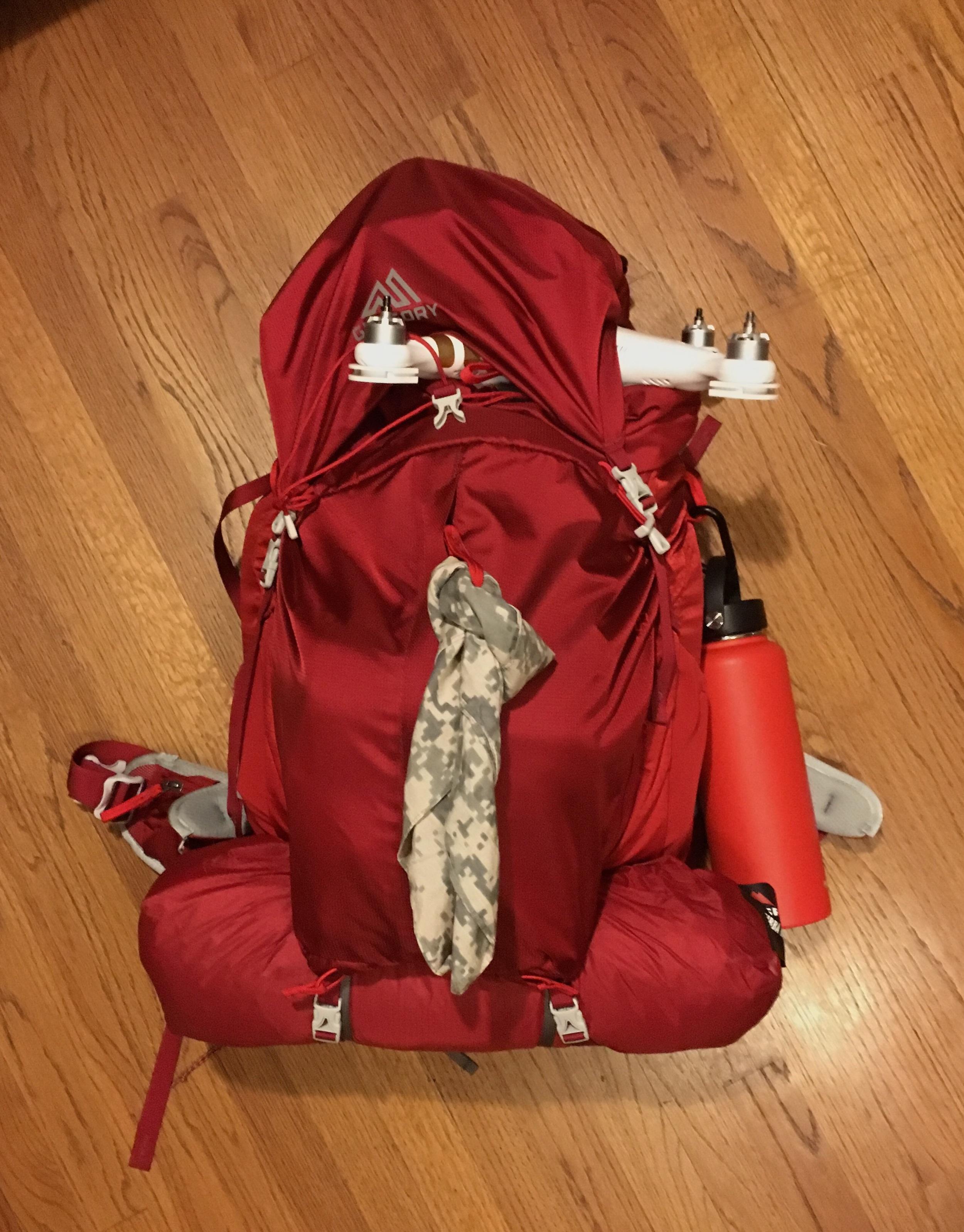 Gregory Backpack. I'm ready to hike Havasupai Arizona. Copyright Hobo.Life