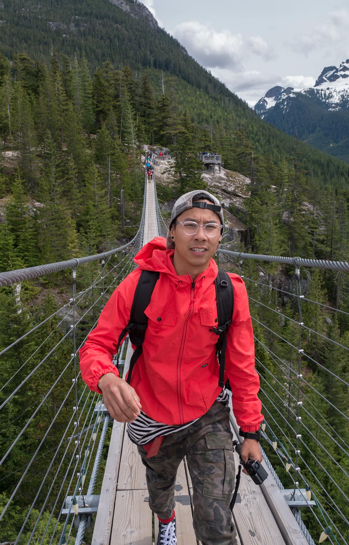 Hoang M Nguyen Sea to Sky Gondola Sky Bridge. Copyright Hobo.Life