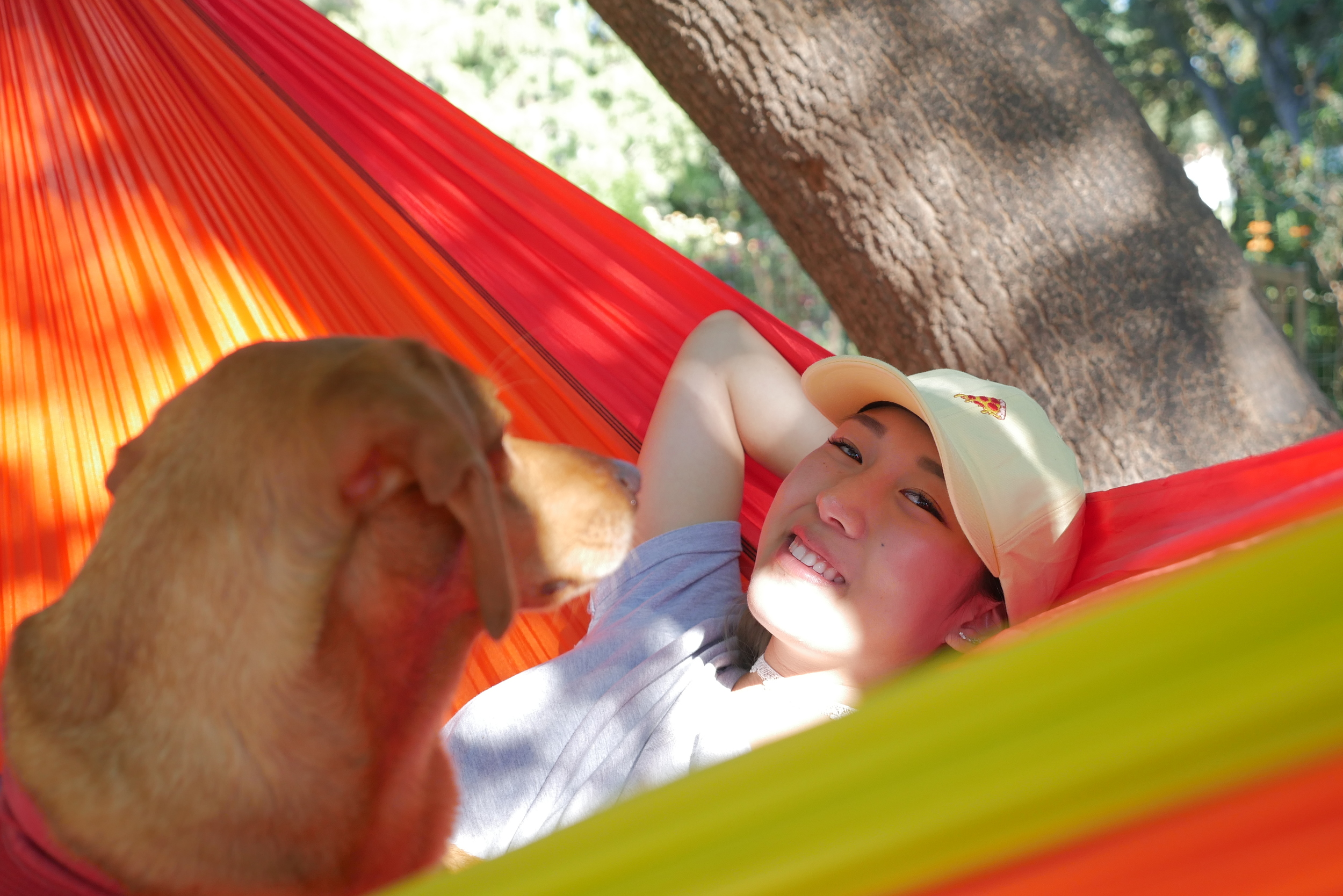 Anna Lee hanging out on Eno Sunshine Hammock @ www.hobo.life