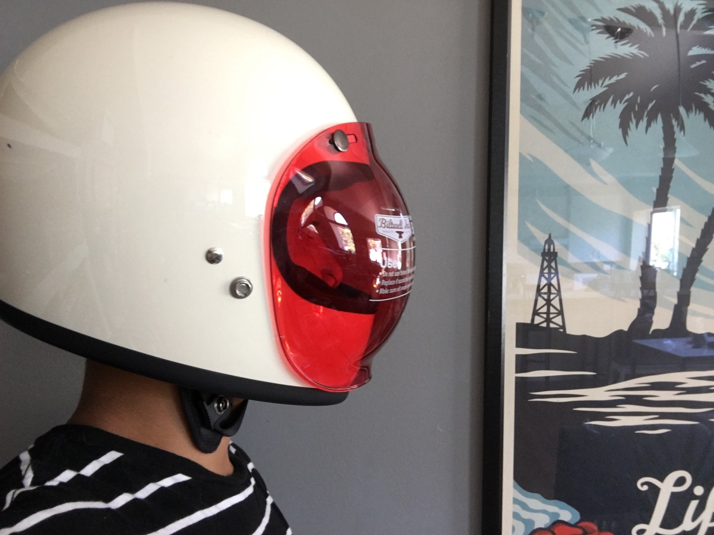 Biltwell Gringo White w/ Biltwell Red bubble Shield Hobo Review
