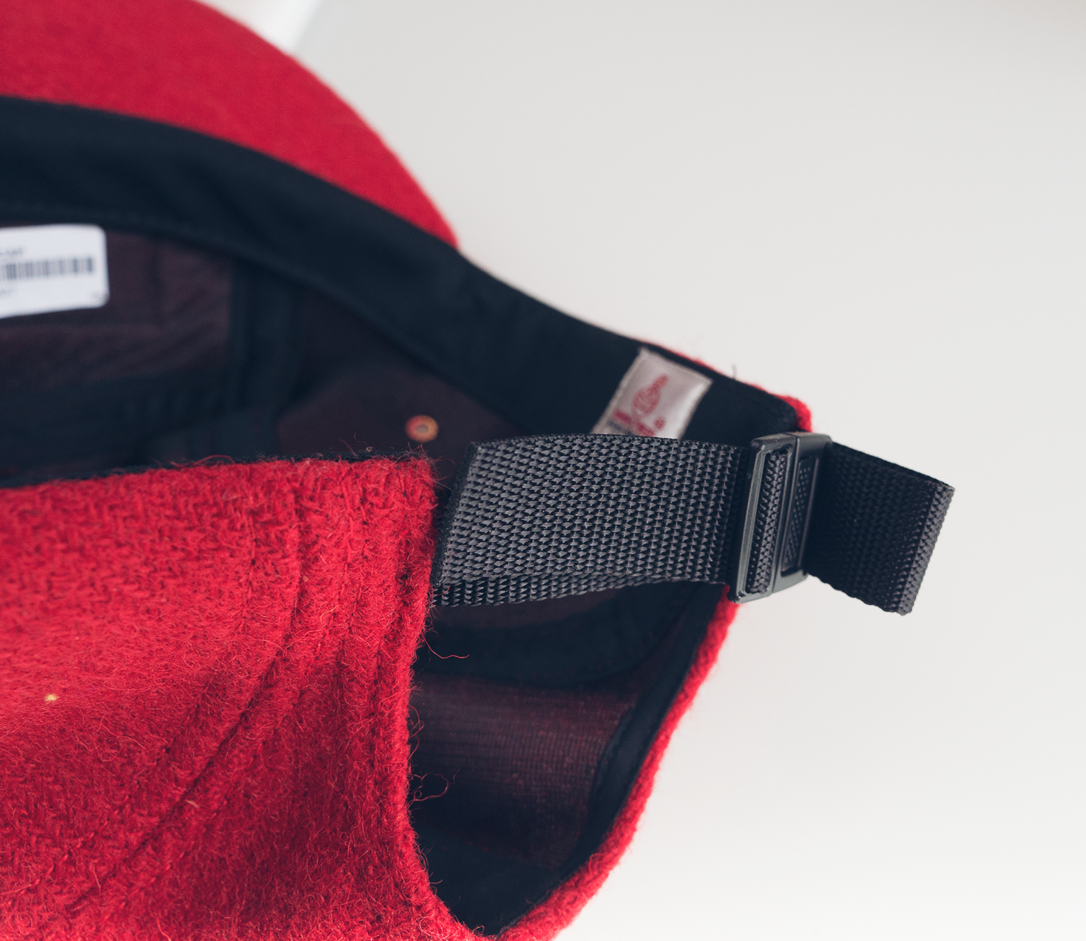 featherweight wool camp supreme cap red