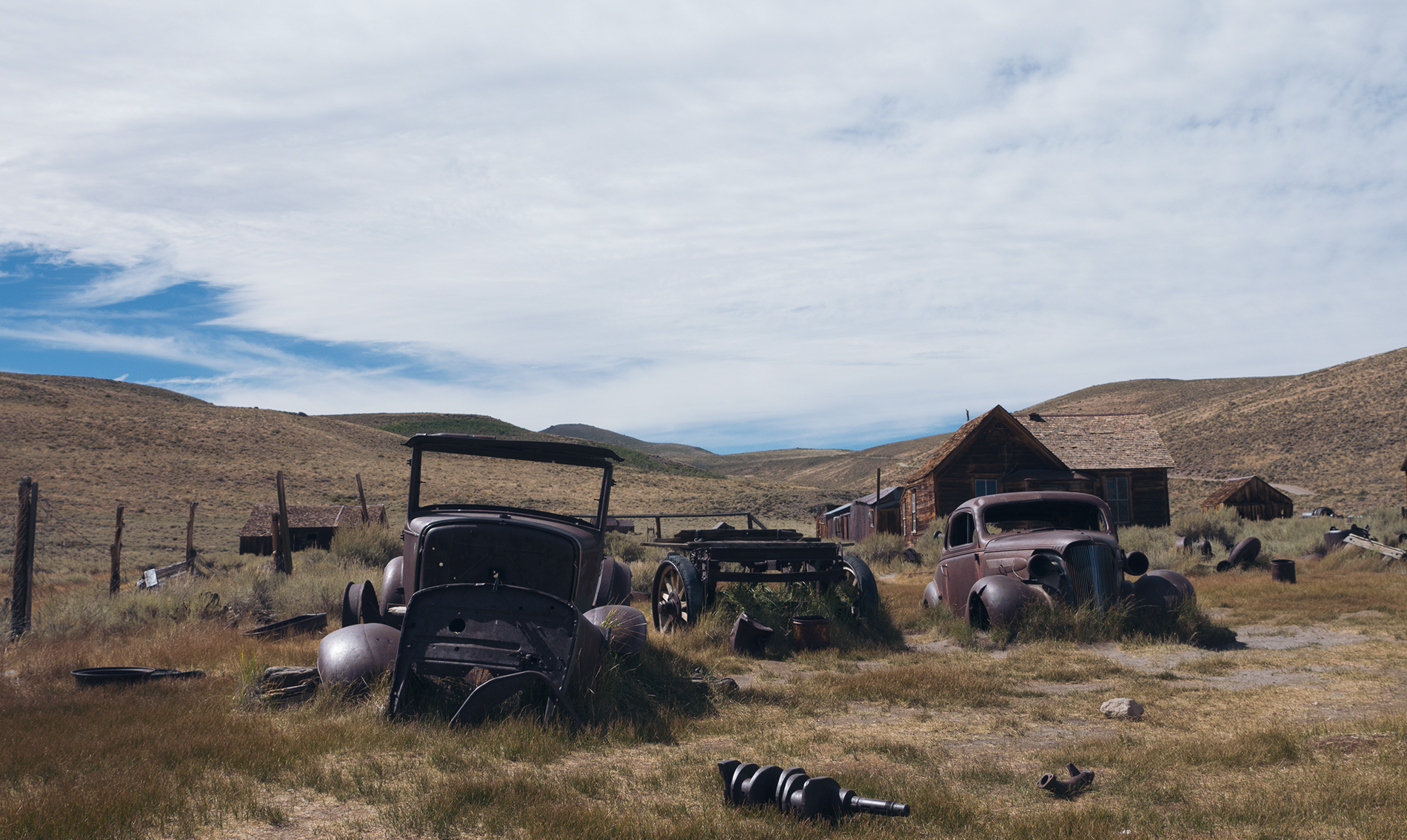 The cars left behind at Bodin. Copyright Hobo.Life