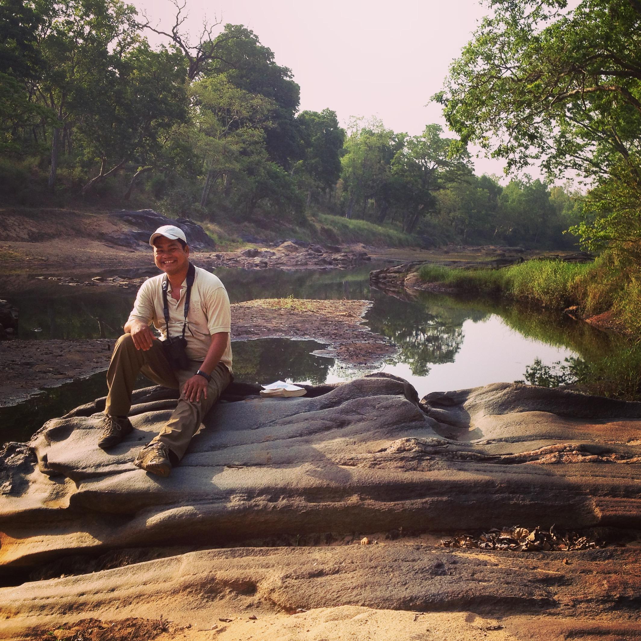 Raj at the river.