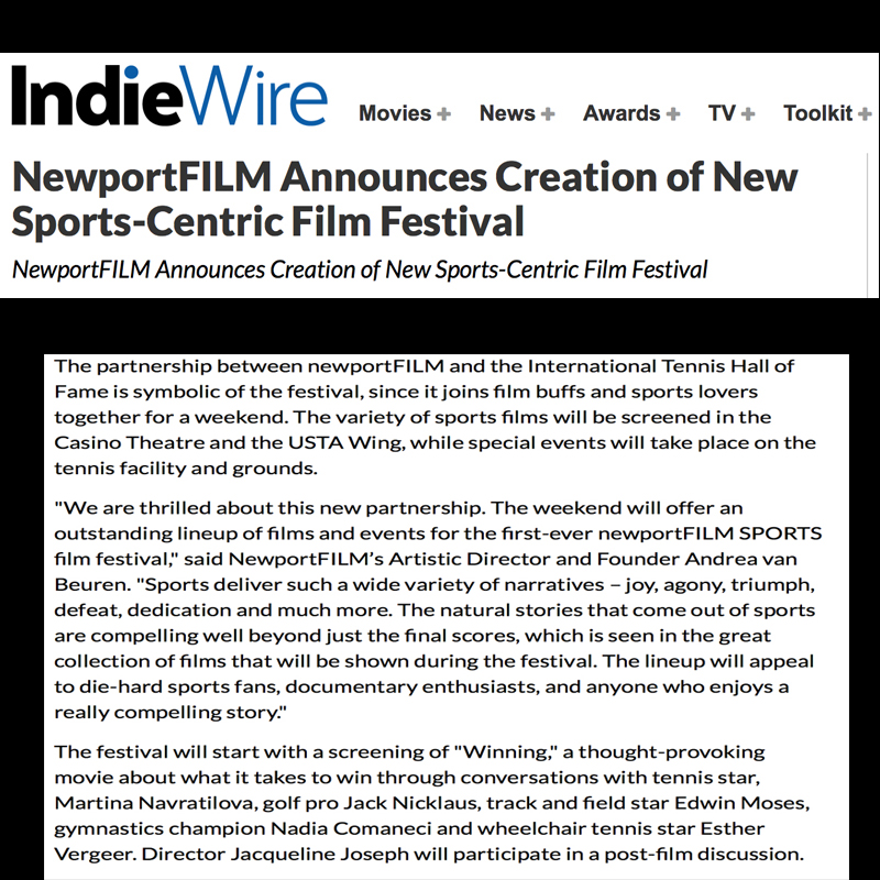 IndieWire WINNING documentary film
