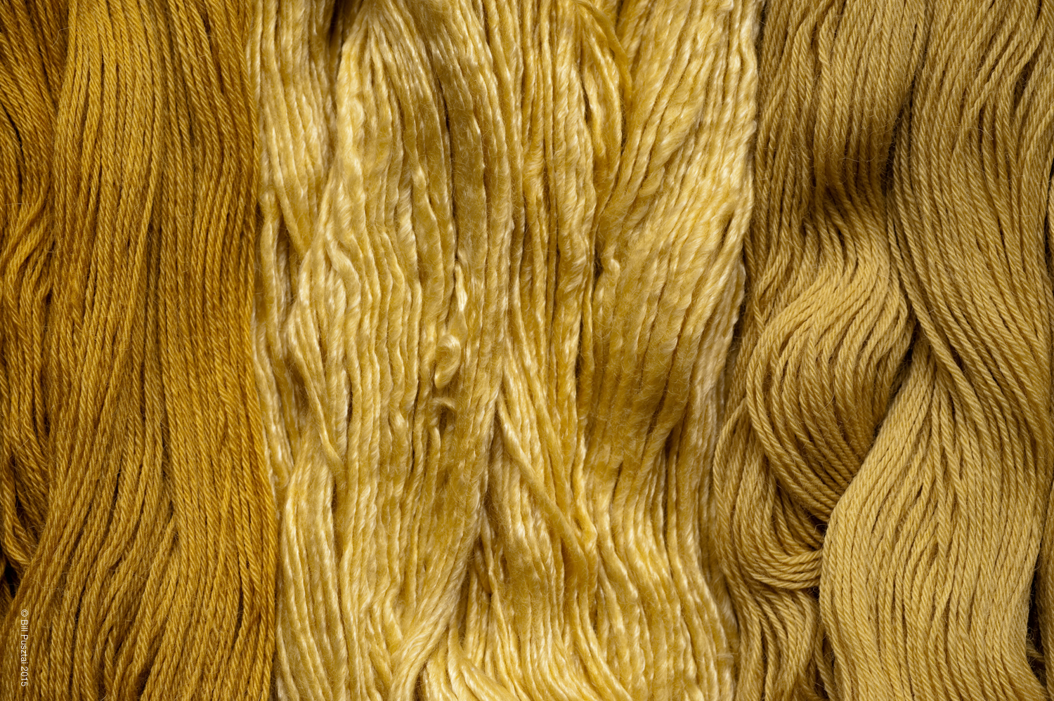 Natural dyed handspun