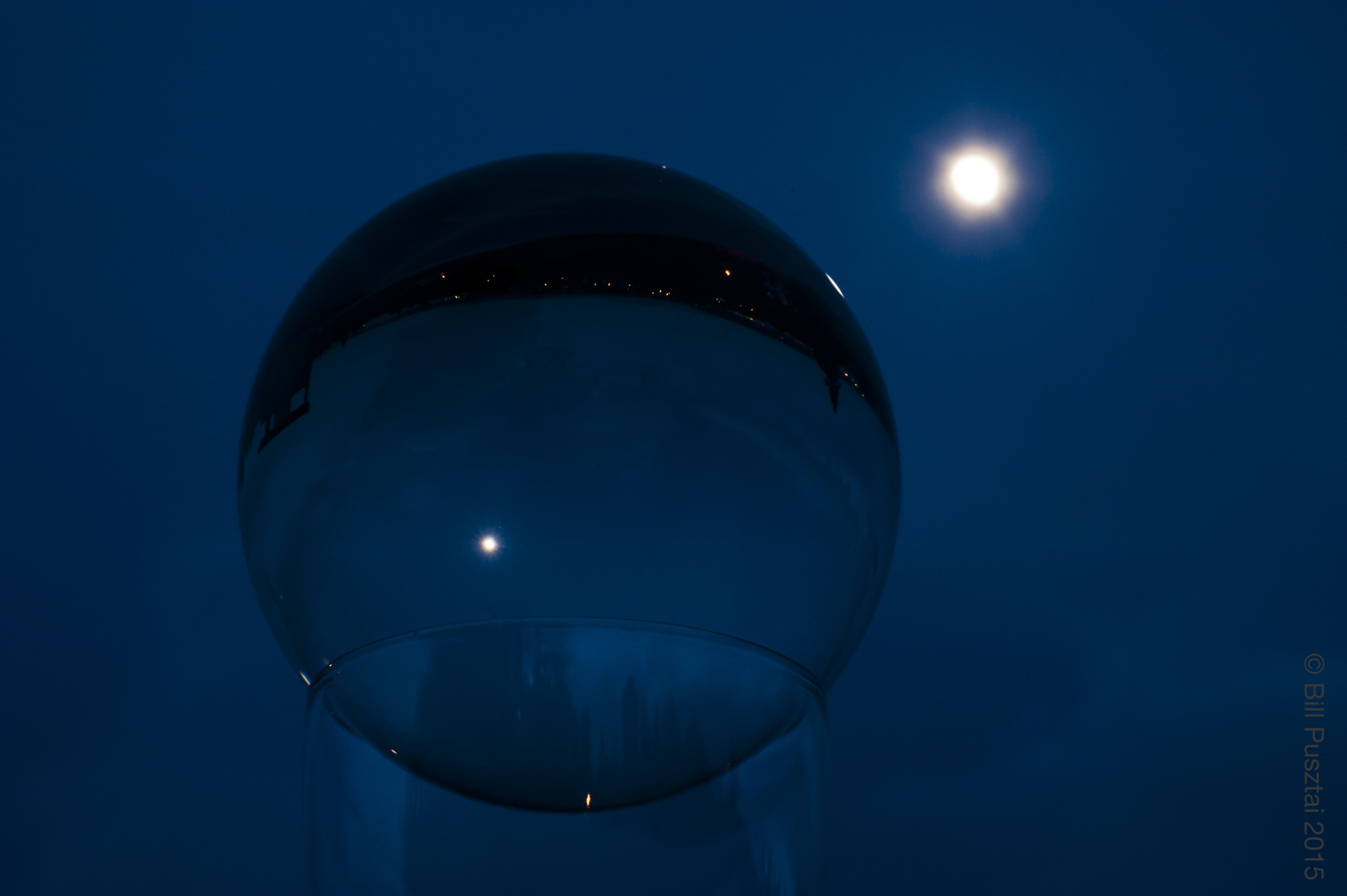 Full moon, orb.