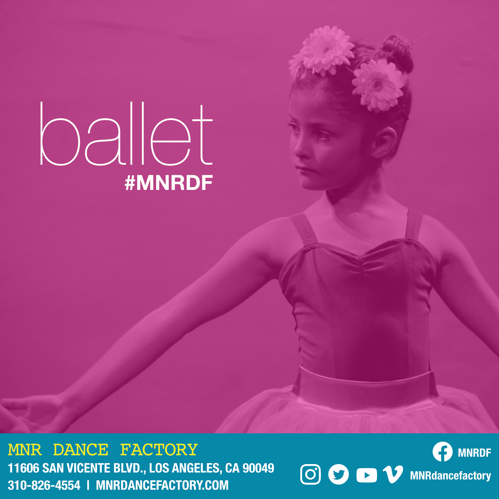Ballet - Ballet is the basis of all dance styles and classes will focus on ballet technique, body alignment and musicality through movement. The ballet program at MNR DF is taught by a faculty of extremely gifted and knowledgable ballet masters Ina Haybaek-Rogers, Alina Bolshekova, and Brittany O'Connor. The faculty combines a working knowledge of the Checchetti, Vaganova and RAD methods to create well balanced and cohesive classes.