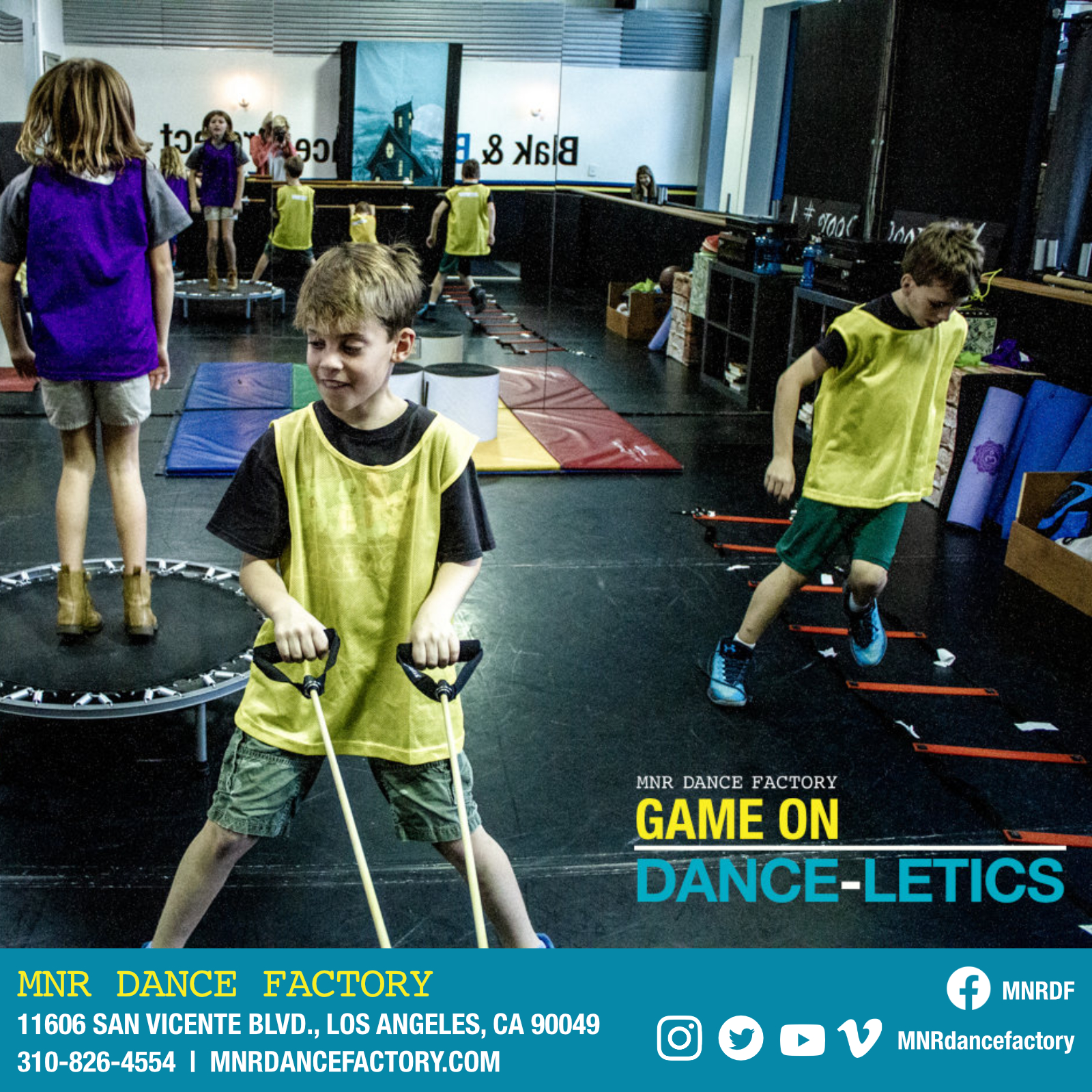 Game On DANCE-LETICS - Improves overall fitness, endurance, flexibility, quickness, balance and athletic ability, while at the same time having a blast learning the latest dance moves and increasing self confidence. Geared to grade-school boys and girls ages 6 to 16 who participate (or aspire to participate) in athletics, as well as, all boys and girls that just love to dance and have fun with other like minded kids.CLICK HERE TO LEARN MORE