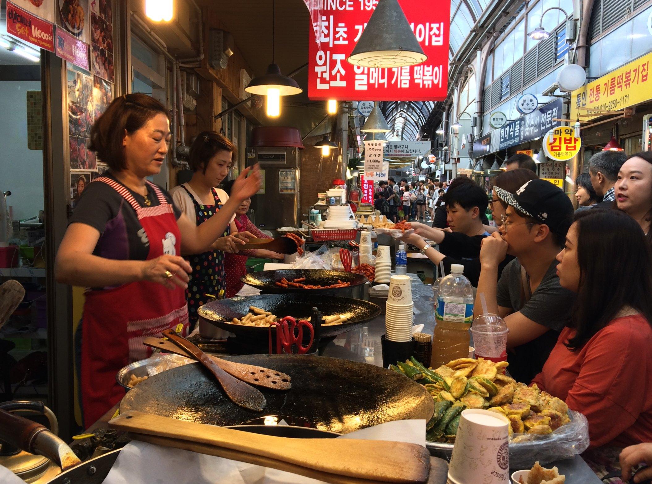 Tongin Market food vendor