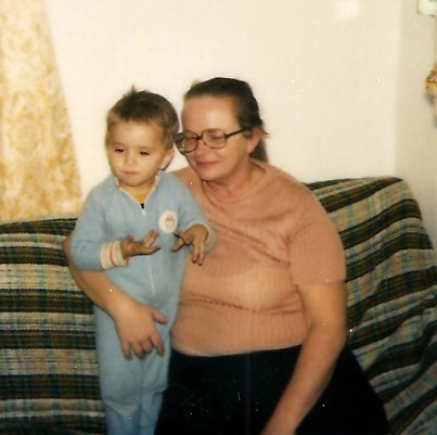 My mother & I in our home in Maryland