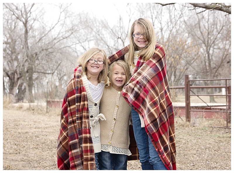 Winter Wichita Family Pet Pictures Children Sisters Portraits 4